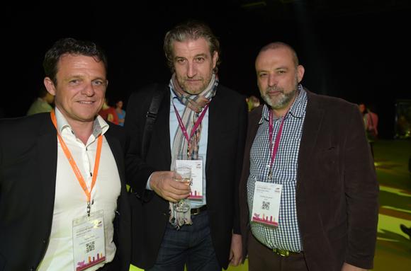 76. Laurent Fiard, président Cluster Edit, Pascal Lacombe (Syrah informatique) et Geoffroy de Peretti (Etic)