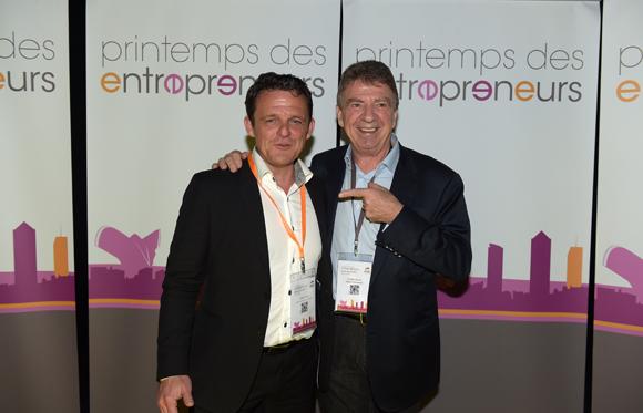 79. Laurent Fiard, président Cluster Edit et Bernard Fontanel, président du Medef Lyon Rhône