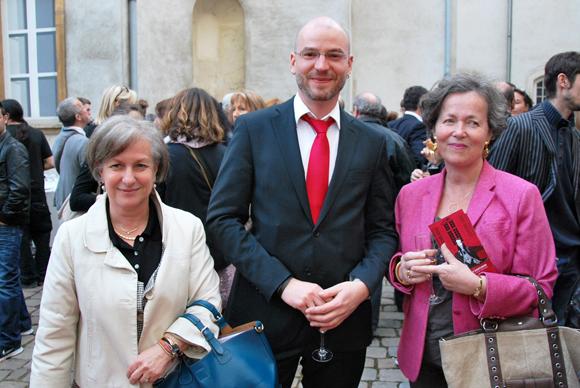 9. Marie Guyon, conseillère du 4e arrondissement, Maximilien Durand, directeur du Musée des Tissus et Guillemette Tracol