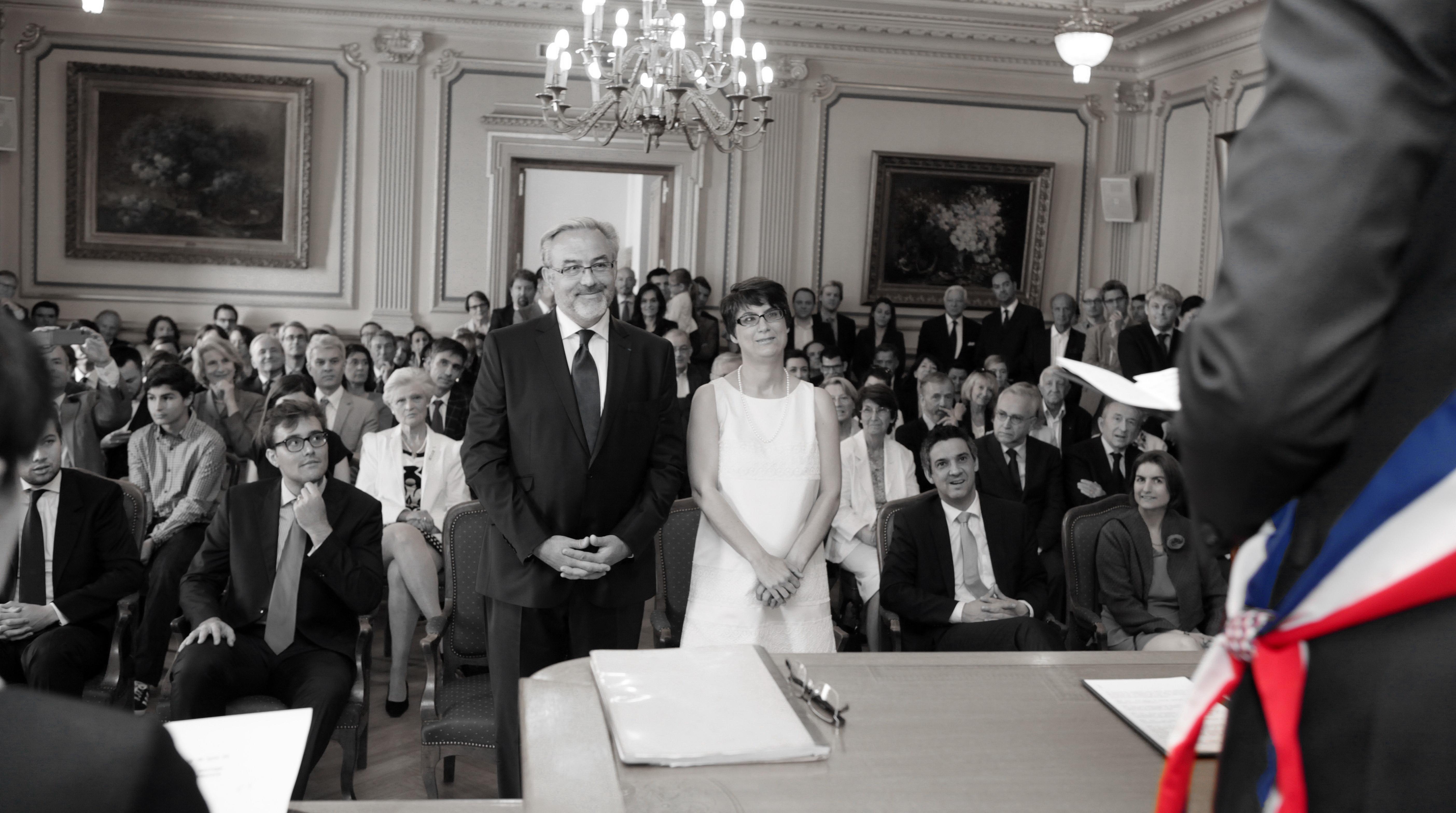 Erick Roux de Bezieux et Elodie Humeau en mode mariage pour tous