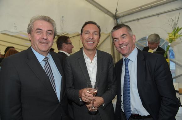 11. Maître Richard Brumm, adjoint aux Finances, Frédéric Mascha (Juvisé) et Laurent Gelpi (Banque Populaire)