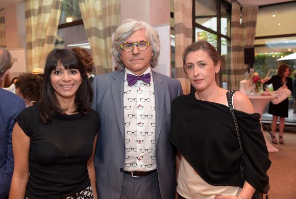 13. Sandra Larger (Byzance coiffure), Pierre Bourdeau (Bourdeau Optique) et Joséphine Gauthier (Siecom)