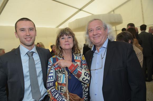 23. Geoffrey Darjinoff (Spart), Gérard Guyot (Brice Robert) et son épouse Mireille