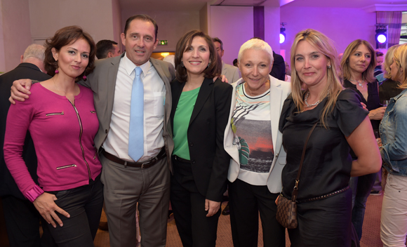 24. Sonia Philippot (Jeïto), Laurent Flavin (Allianz), Nora Berra, Marie-José Gherardi (Le Progrès) et Stéphanie Gagnaire (Brice Robert)