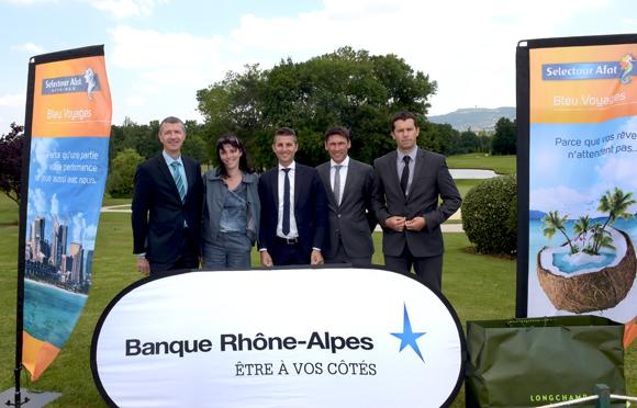 26. L'équipe Rhône-Alpes Nord et centre d'affaires de la Banque Rhône-Alpes