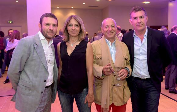 26. Franck Sciessere directeur de la Cour des loges, Valérie (Lyon People), Jean-Louis Maier et Nico (Lyon People)