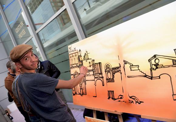 28. L'artiste peintre Maxime Ivanez