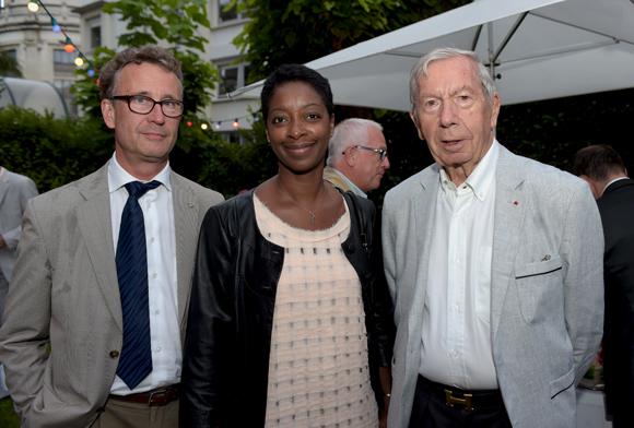 28. L'architecte Patrick Rheinert, Fanny Woum et Guy Malher, ancien président de la CCI