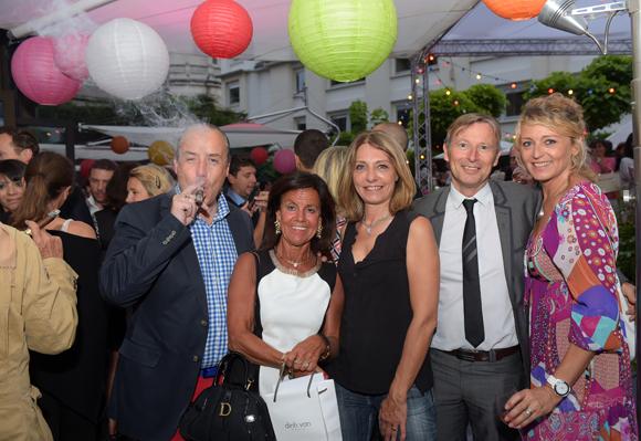31. Richard Thavel (SCP Zerbib), Béryl Maillard, consul de St Domingue, Valérie (Lyon People), Patrick Auguy (Véolia) et Florence Beylat (Short-Line)