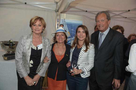 40. Christiane de Barbeyrac (Banque Populaire), Patricia Blanchard, Valérie  Escot (Banque Populaire) et Daniel Duquesne