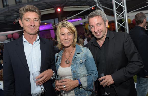 45. Damien Gouy-Perret, Muriel Ecochard Larréché (Le Progrès) et Lionel Flasseur