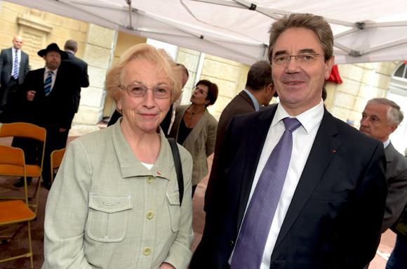 15. Danielle Chuzeville, présidente du Conseil général et Jean Trotel, 1er président de la cour d'appel de Lyon
