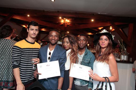 24. Inane, Fabrice, diplômé, Dorianne, Loïc et Julia, diplômée