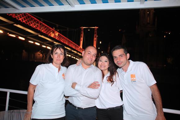 35. Sylviane (DCB), Jérome Brugger (Partition) et Hue Minh (DCB) et Philippe (DCB)