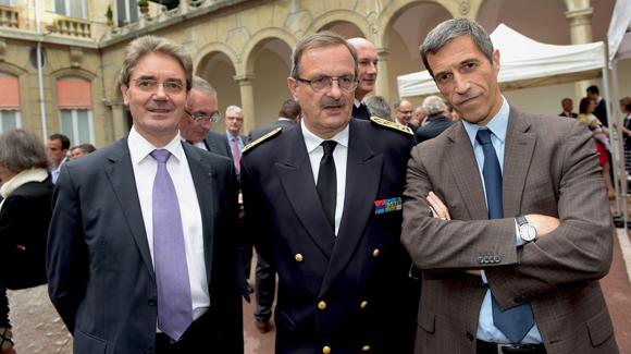 36. Jean Trotel, 1er président de la cour d'appel de Lyon, Jean-François Carenco, Préfet du Rhône et Marc Cimamonti, procureur de la République