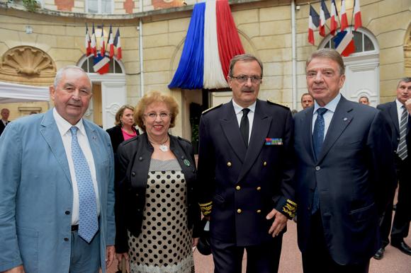 41. Jean-Paul Mauduy, président de la CRCI, Evelyne Haguenauer, Jean-François Carenco, Préfet du Rhône et  Bernard Fontanel