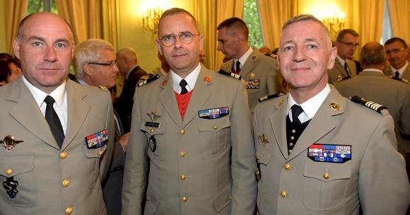 44. Le Général Olivier Salaün, le Lieutenant-colonel Philippe Hinterlang et le Lieutenant-colonel Philippe de Cussac