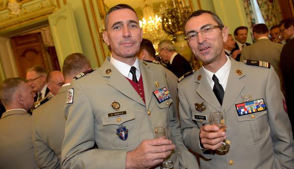 45. Le lieutenant-colonel Henri Bonfils et le Médecin Colonel Gabriel Astrie