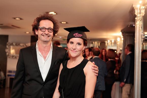 6. Jean-François Croës, directeur de l'EFAP Rhône-Alpes et Chloé Cellier, diplômée