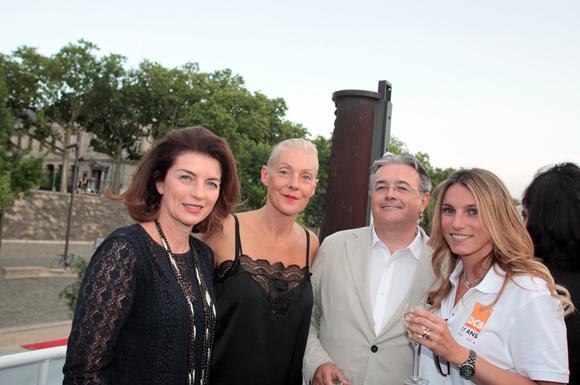 7. Chantal Palluis (Foncimo), Cécile Remond, architecte du patrimoine, Marc Pigeroulet (Arioste Immobilier) et Anne Caudard-Breille (DCB International)