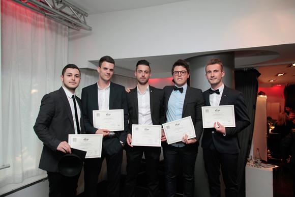 8. Bilal, Valentin, Borris, Edouard et Vincent, diplômés