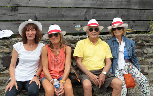 21. Elida Pineau, Catherine Siegel, Michel et Jeanne Reynaud