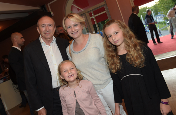 26. Gérard Collomb, sénateur maire de Lyon, Caroline Collomb, leurs filles Clémence et Camille