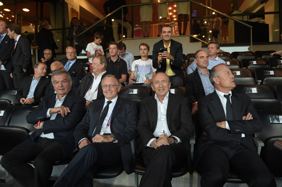 27. Michel Mercier, Jean-Michel Aulas, Gérard Collomb et Bernard Lacombe