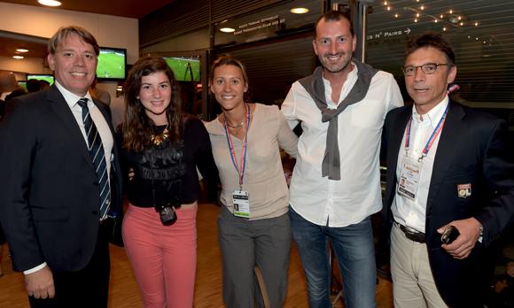 30. Jean-Marie Hebert (OL), Cassandre Cauvin, Marion Vialatte (OL), Grégory Cauvin (Oknoplast) et Olivier Bernardeau (OL)
