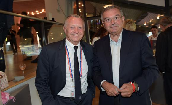 4. Jean-Michel Aulas président de l'OL et Michel Mercier, maire de Thizy-les-bourgs