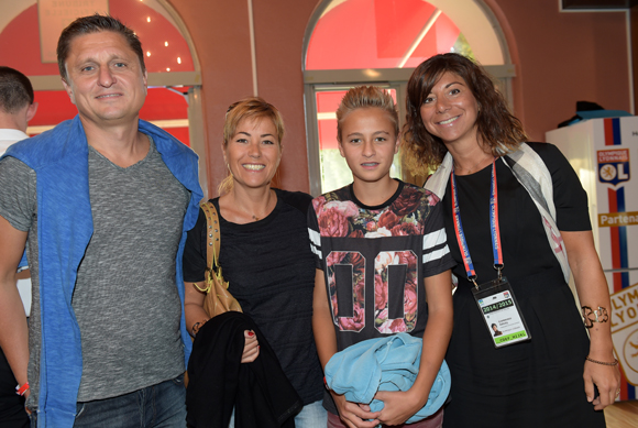 6. Philippe Jolivet (Hydreka), son épouse Angélique, leur fils Thomas et Nathalie d'Ambrosio (OL)