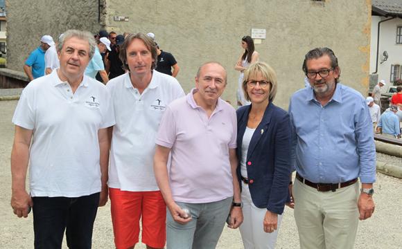 6. Richard Brumm, Hugues Ducrot, Gérard Collomb, sénateur-maire de Lyon, Catherine Jullien-Breches, maire de Megève