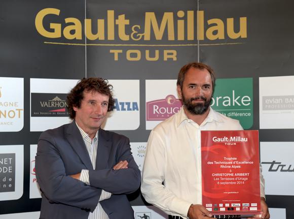 1. Trophée des techniques d'excellence Rhône-Alpes à Christophe Aribert (Les Terrasses d'Uriage)