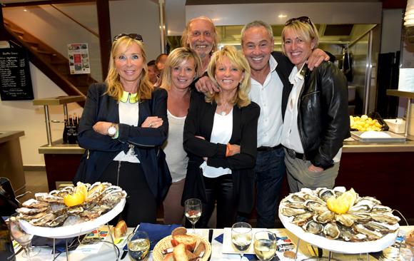1. Christian Mure (Lyon Gourmand), Alain Dinc (La Tour Rose), Valérie, Corinne, Nicole et Laurence