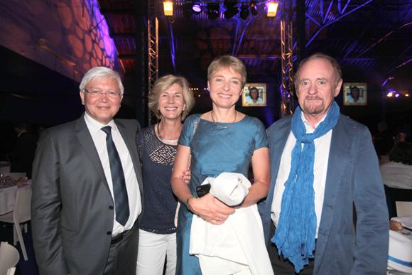 14. André Foissey (Orange), Gilles Pascale (France Télévision), Sylvie Foissey (Orange) et Robert Thevenot, adjoint au maire de Caluire