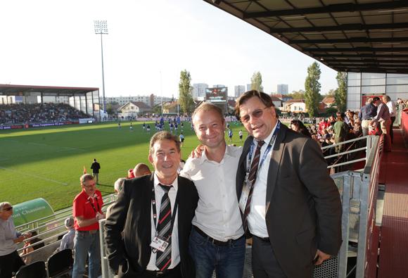 18. Jean-Claude Pietrocolla (Media Sport Promotion), Marc Polisson (Lyon People) et Franck Isaac-Sibille (LOU Rugby)