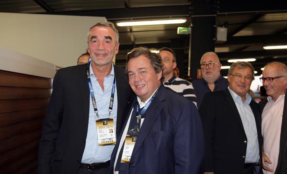 22. Pierre-Yves Revol, président de Castres et Olivier Ginon, président de GL Events