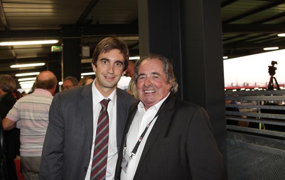 24. Yann Roubert, président du LOU Rugby et Pierre Bouteille