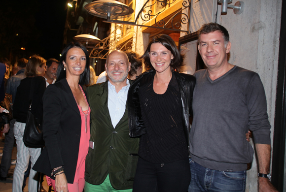 25. Karine Fontaine (Sotheby's Realty), Jean-Louis Maier, Ariane Guimet (Tout Lyon Affiches) et Nicolas Winckler (Lyon People)