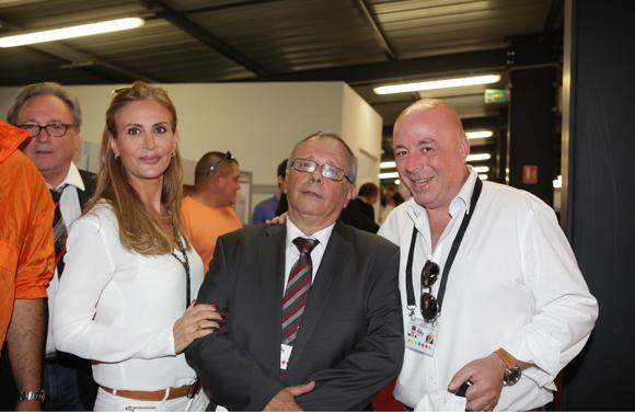 25. Caroline Martini, Léandre Borbon (LOU Rugby) et Yvan Patet, président d'EM2C