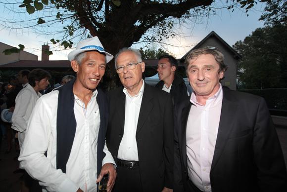 3. Jean-François Lagloire (Tennis Club de Lyon), Jean Pavarotti, président du comité du Rhône de Tennis, Jean-Bernard Poissant (Conseil Général du Rhône)