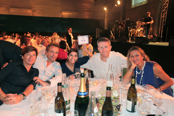33. Table Fatton : Ludivine Thoral, Philippe Caron, Léna Streichenberger, Michel Baguenault de Puchesse et Géraldine Fatton