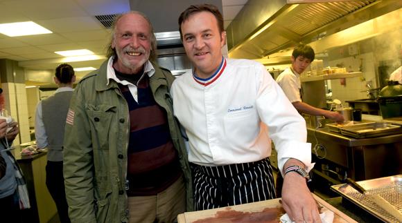 42. Christian Mure (Guide Lyon Gourmand) et Emmanuel  Renaut (Flocons de sel restaurant 3 étoiles)