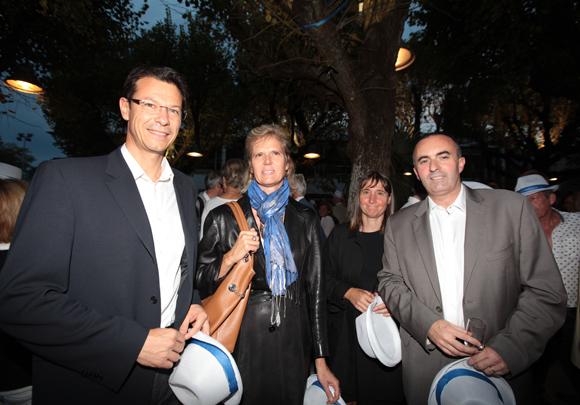 5. Philippe Lacaze (Cofely) en compagnie de son épouse Agnès, Anne et Michel Le Faou, adjoint à l'Urbanisme