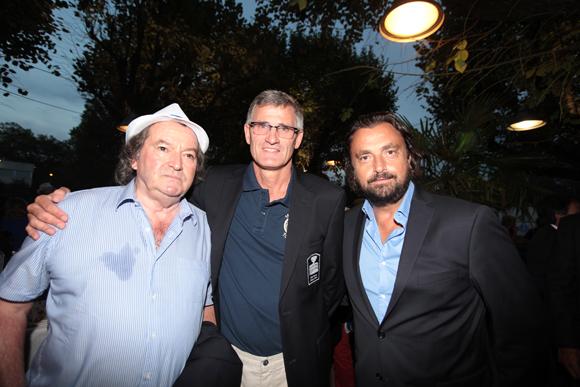 6. Les champions Jean-Baptiste Chanfreau, Gilles Moretton et Henri Leconte
