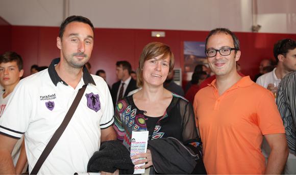 7. Fabrice Mearini (Sathel), Aurélie son épouse (Gerflor) et Dimitri Theotikos (Mazars)