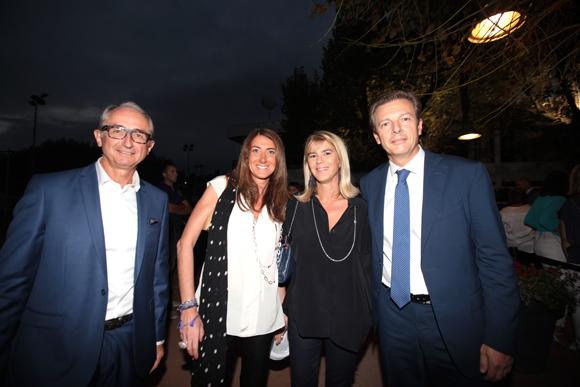 9. Francis Bezot, président du Tennis Club de Lyon, Delphine Vignot, Christelle Blache (PBL Finances) et Pascal Blache, mairie du 6ème
