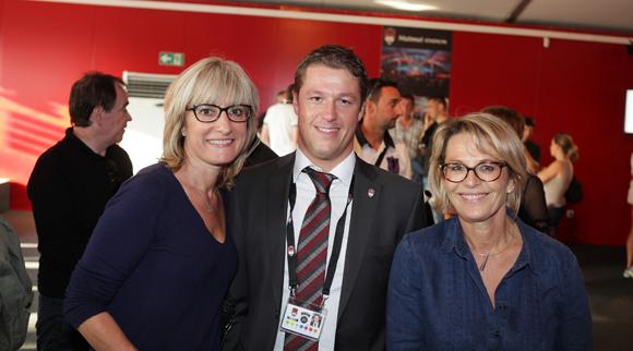 9. Sandrine Popy (Parakalo), Mathieu Renaud (Lou Rugby) et Cathy Gunard Gentilhomme (Parakalo)
