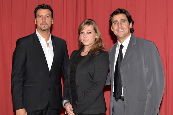 1. Serge et David Massot, co-directeur et directeur du Cirque Imagine, avec Marion Guinamand (chargée de communication et commercialisation)