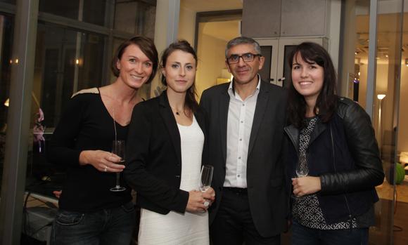 11. Virginie Clavier, Laurine Zacharie, Joseph Benchaetrit (Roche Bobois) et Sandra Figureau (Création Contemporaine)